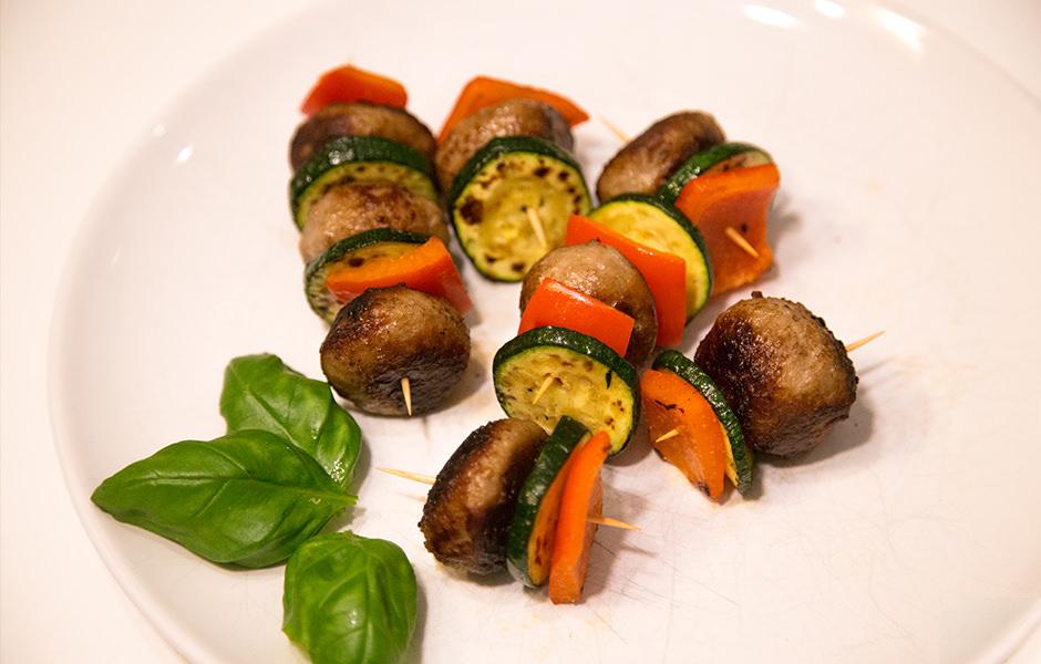 Partyspieß mit Hack & Gemüse - Rezept 21 Tage Stoffwechselkur